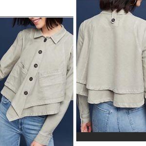 Anthropologie Hei Hei cropped light khaki jacket